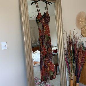 Maxi Dress Boho Hippie Colorful